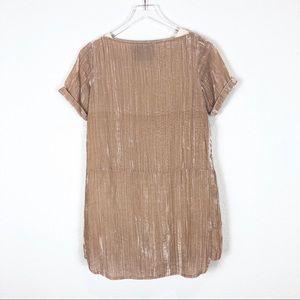 Anthropologie Dresses - Floreat | Pearl colored velvet shift dress size xs